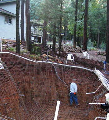Natural design - Building a swimming pool on a slope ...